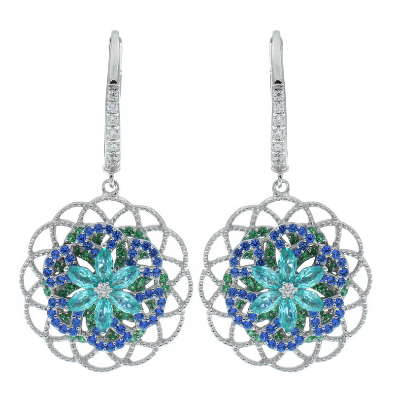 Women Filigree Spinning Earrings